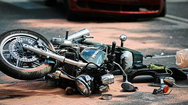 Wypadek motocykla