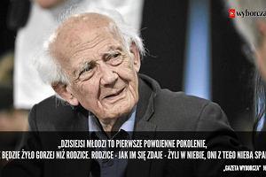 Nie chciał nikogo pouczać. Zygmunt Bauman 1925-2017