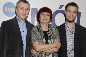 Jasiek Mela z rodzicami