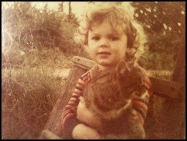 Przyszła redaktor Sosin z kotem (Fot. Archiwum prywatne)