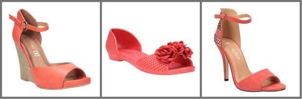 Koralowe buty z CCC - ładne?