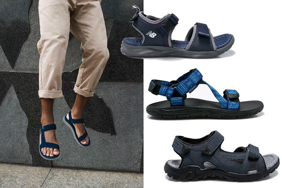 Niebieskie sandały