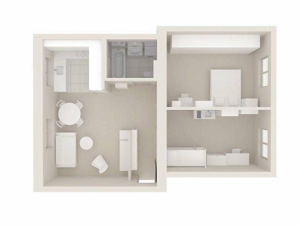 Plan mieszkania, 67 m kw.