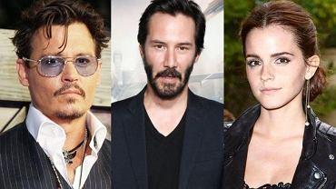 Johnny Depp, Keanu Reeves, Emma Watson