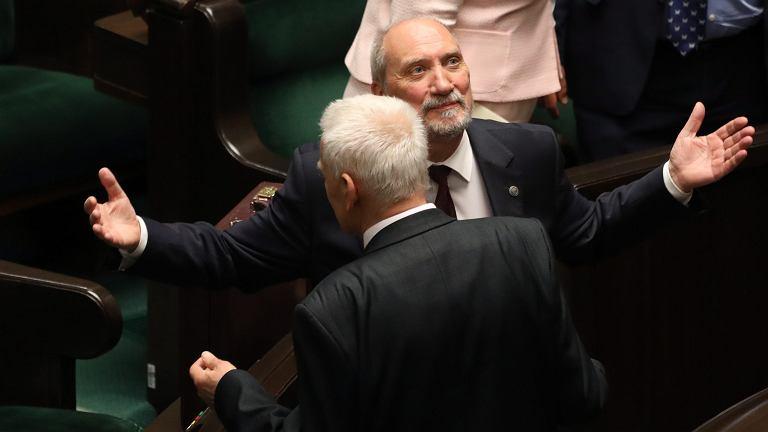 24.05.2017 Warszawa , Sejm . Minister obrony w rządzie PiS Antoni Macierewicz, po głosowaniu nad jego odwołaniem.