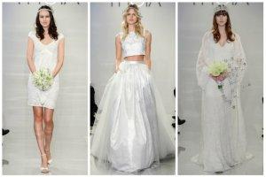 Suknia �lubna w stylu boho, kr�tka, a mo�e ods�aniaj�ca brzuch? Co na wiosn� 2015 proponuje popularna marka Theia?
