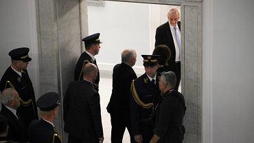 Jarosław Kaczyński w piątek w Sejmie