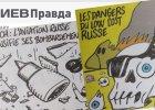 """Charlie Hebdo rysuje katastrof� rosyjskiego Airbusa. Rosjanie: """"To blu�nierstwo"""""""