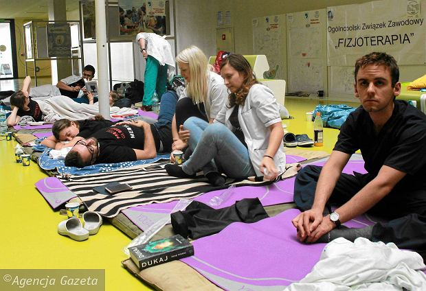Protest głodowy lekarzy rezydentów w Warszawie