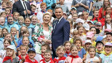Prezydent Andrzej Duda i Agata Duda - 'Bezpieczne Wakacje z parą prezydencką'