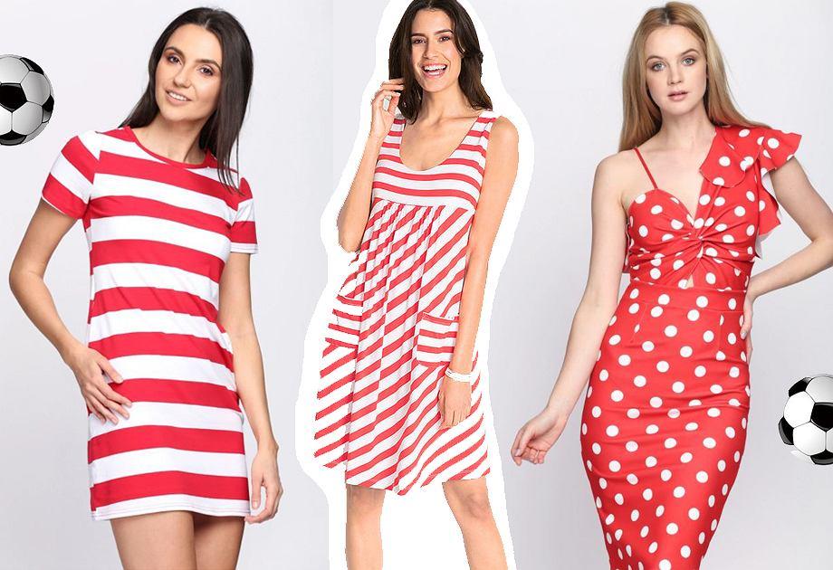Sukienki biało-czerwone