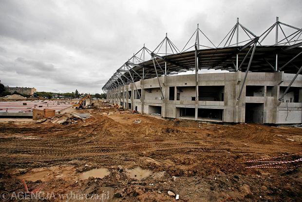 Zdjęcie numer 21 w galerii - Budowa stadionu Widzewa. Widać już napis