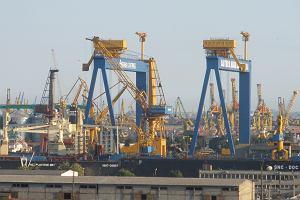 Port w Konstancy nad Morzem Czarnym w Rumunii