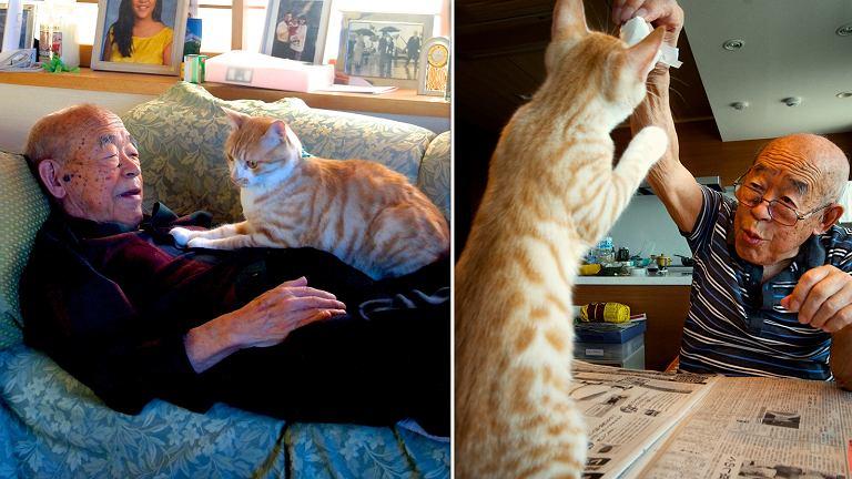 Jiji i jego najlepszy przyjaciel kot Kinako.