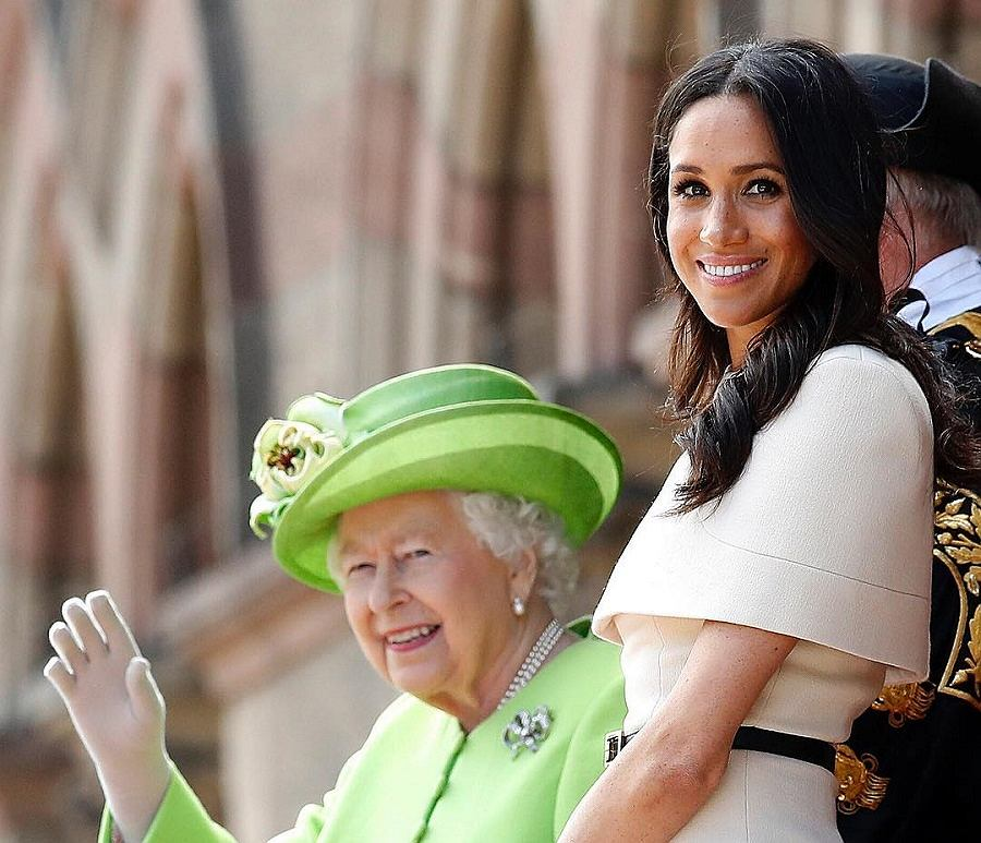 Księżna Meghan i królowa Elżbieta II