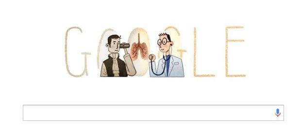Rene Laennec na Google Doodle