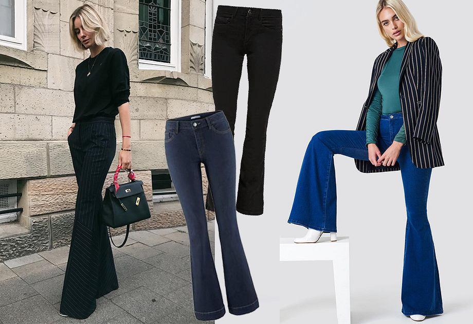 Modne jeansy dzwony na jesień