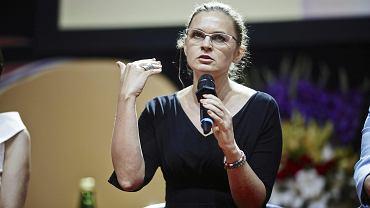 Barbara Nowacka podczas X Kongresu Kobiet (debata na temat samorzadów). Łódź, 17 czerwca 2018