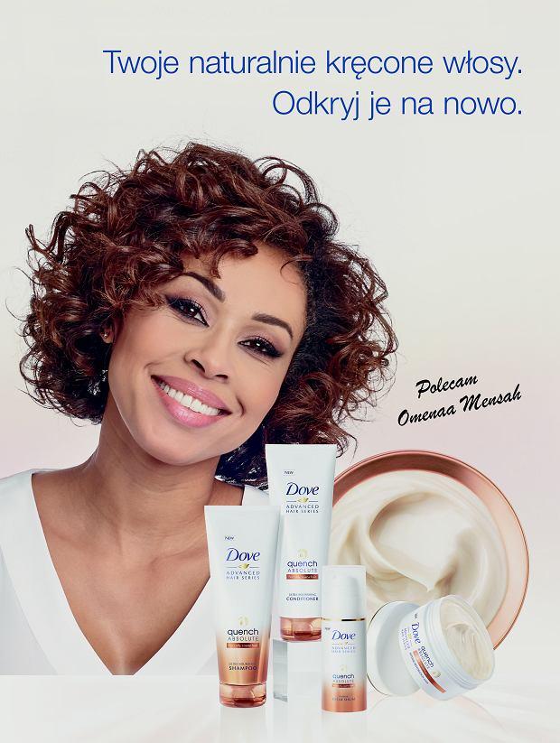 Włosy falowane i kręcone pod kontrolą, dzięki innowacyjnym kosmetykom z linii DOVE Advanced Hair Series Quench Absolute