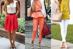 Żółty, pomarańczowy, czerwony - ciepłe barwy w stylizacjach do pracy