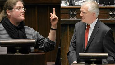 Pani poseł Pawłowicz (PiS) i min. Jarosław Gowin (PO)