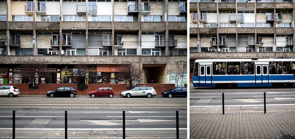 To jedyny w kraju blok z mieszkaniami dwupoziomowymi powstały w PRL (fot. Filip Springer)