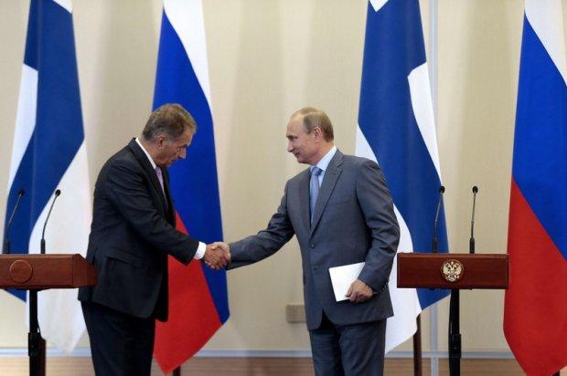 Prezydenci Finlandii i Rosji - Sauli Niinistoe i Władimir Putin