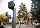 Fotoradar owini�ty czarn� foli� na ulicy Ketrzynskiego w Olsztynie