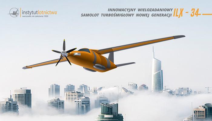 Samolot turbośmigłowy nowej generacji ILX-34