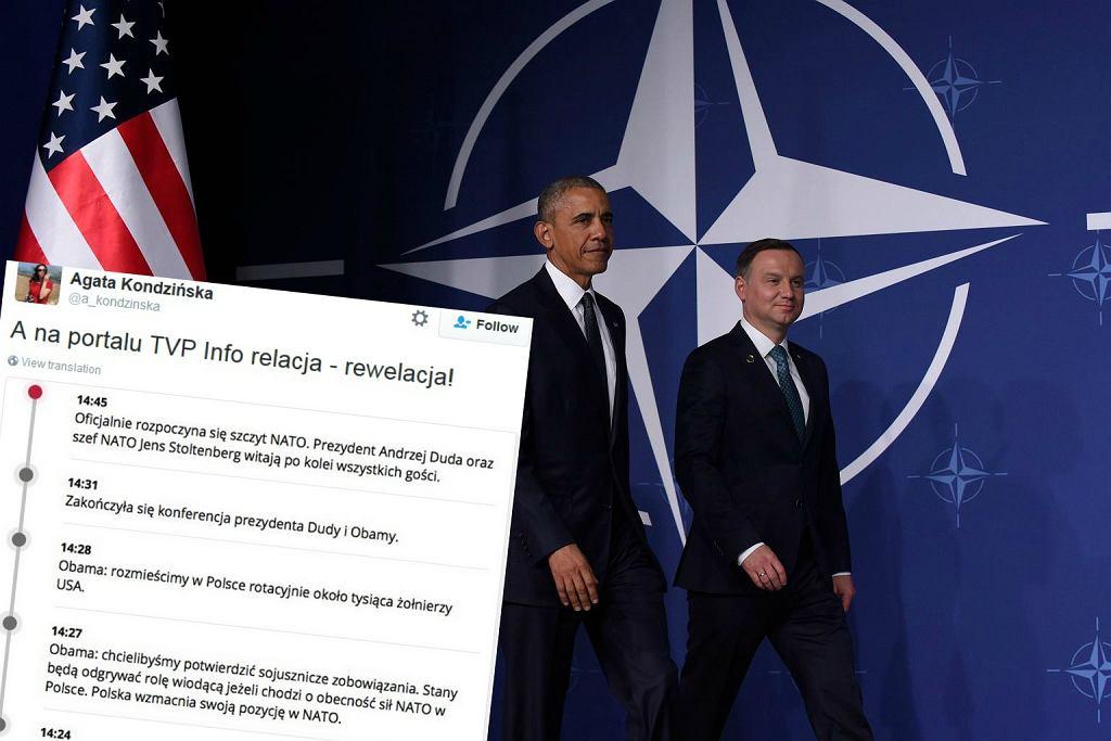 Duda przemawiał po spotkaniu z Obamą