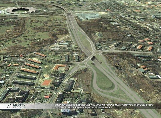 Obwodnica ma się zaczynać w okolicy ul. Parkowej przy Stadionie Śląskim, potem mijałaby charakterystyczną wieżę wyciągową szybu Prezydent. Dalej, między innymi przez tereny przemysłowe dawnej Huty Kościuszko, ma pobiec w stronę Bytomia, aż do węzła z ulicą Jana Pawła II. Całość ma mieć nieco ponad 8 kilometrów długości