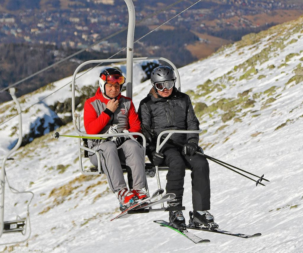 Prezydenci Polski i Słowacji na nartach