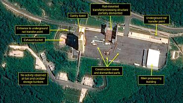 Korea Północna rozpoczęła demontaż stanowisk do badań pocisków balistycznych