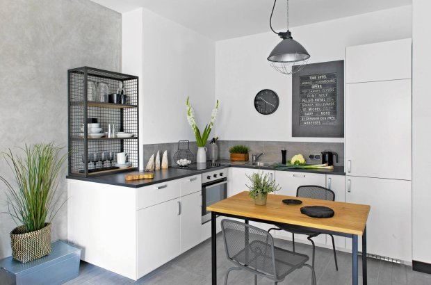 Aneks kuchenny w bloku 16 aranżacji do naśladowania -> Kuchnia W Salonie Aranżacje