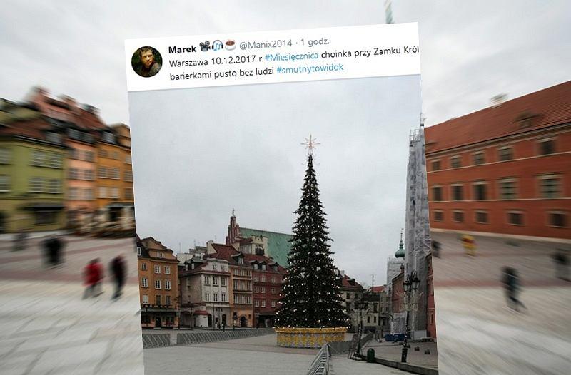 92. miesięcznica i choinka w Warszawie