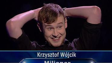 Krzysztof Wójcik, zwycięzca w programie 'Milionerzy'
