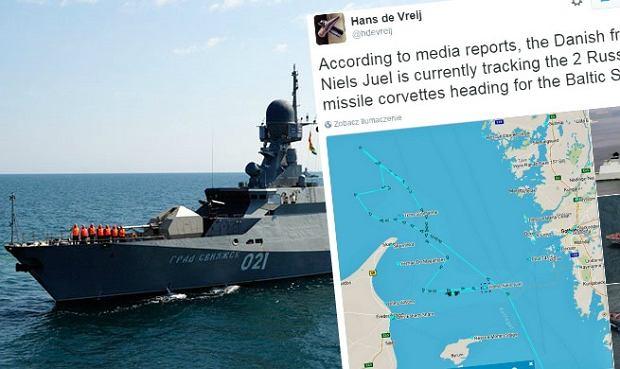 Szwedzkie media: dwie rosyjskie korwety na Bałtyku. Mogą przenosić broń atomową