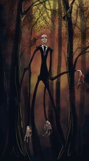 Slender Man, ilustracja fana