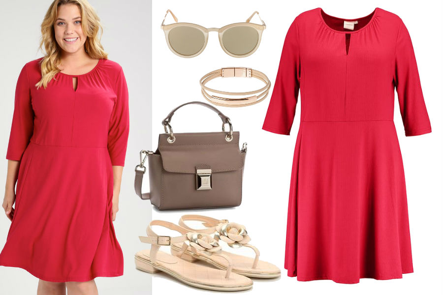 89eab75057 Elegancka sukienka dla puszystych na co dzień i na przyjęcia
