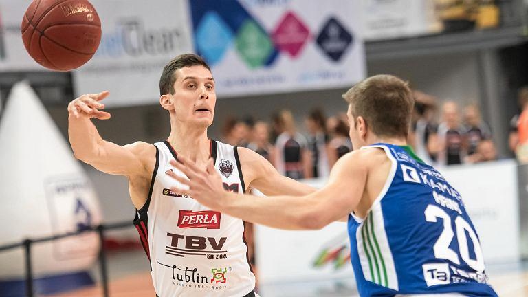 TBV Start Lublin - Anwil Włocławek 97:100. Z piłką Michael Gospodarek