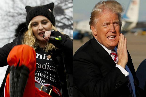 """Madonna, kilka dni temu wzięła udział w """"Marszu kobiet"""", w Waszyngtonie. Protest dotyczył zabrania wolności praw kobiet przez rządy Donalda Trumpa. Piosenkarka stanęła po stronie poszkodowanych i w mocnych słowach skomentowała całą sytuację. Wypowiedź, była kontrowersyjna i zawierała wiele zarzutów wobec 45. prezydenta Stanów Zjednoczonych. Trump nie pozostał obojętny i odpowiedział Madonnie w jednym z wywiadów telewizyjnych. Czy konflikt będzie kontynuowany?"""
