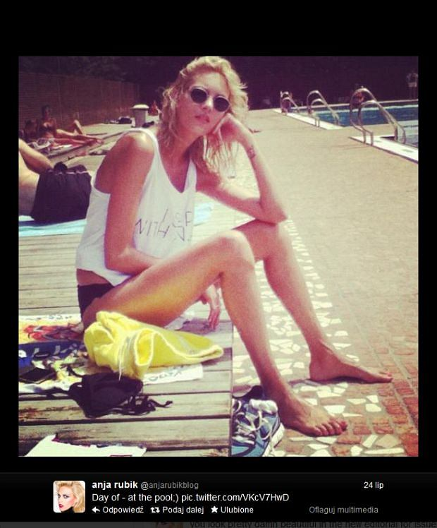 Anja Rubik w Serbii na wakacjach