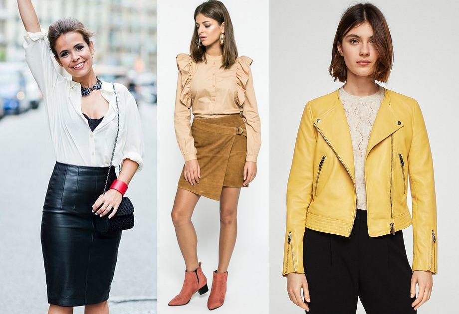 41fd931b62 Skórzane kurtki i spódnice - moda 2019