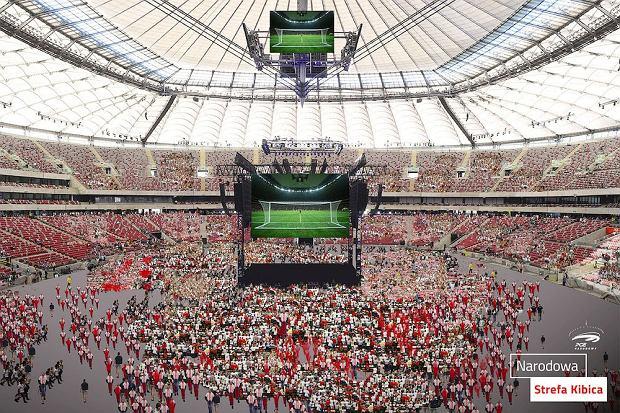 Zdjęcie numer 1 w galerii - Ogromna strefa kibica powstanie na Stadionie Narodowym. Mecz  obejrzy nawet 70 tys. osób