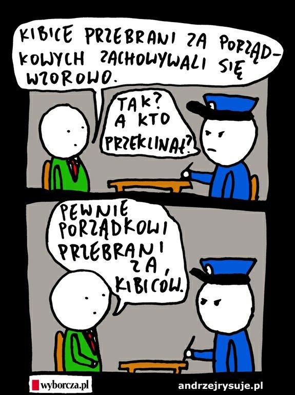 Absurd kamizelkowy: burmistrz przebrał kibiców za ochroniarzy [MIŚ 2014]