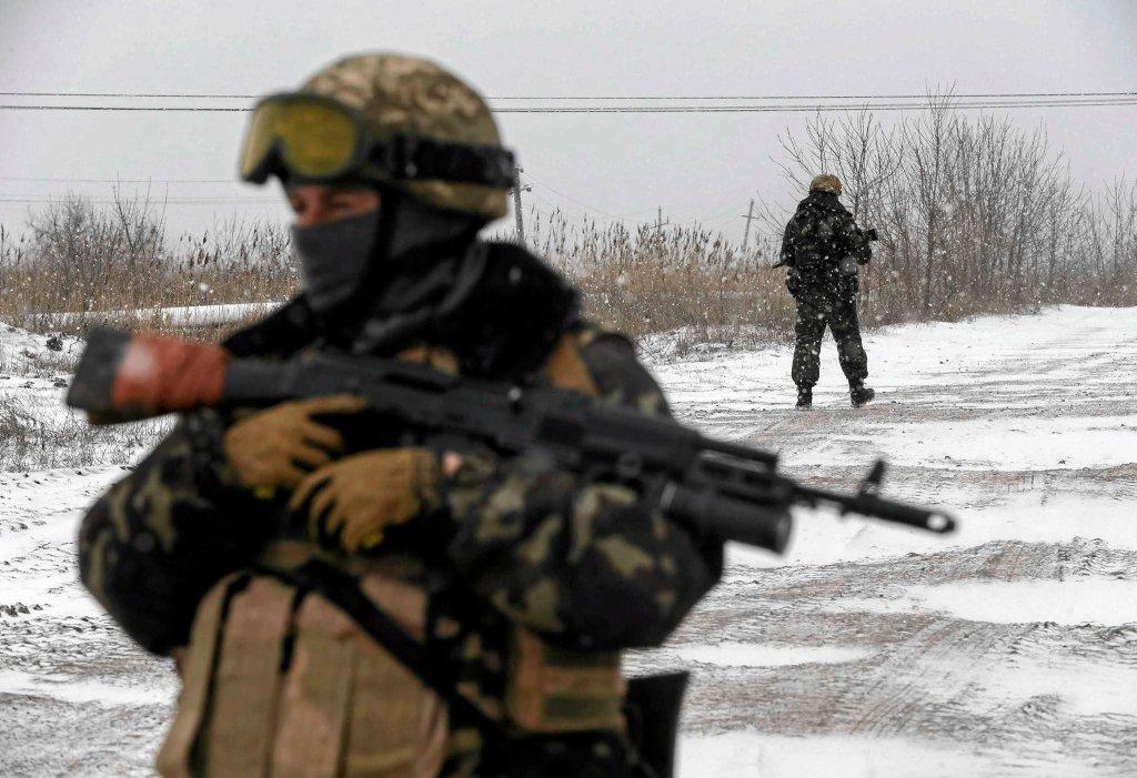 Ukraińscy żołnierze pod Debalcewem