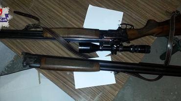 Zabezpieczona broń 64-latka