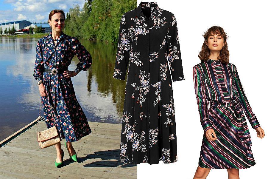 Wzorzyste sukienki dla dojrzałych kobiet
