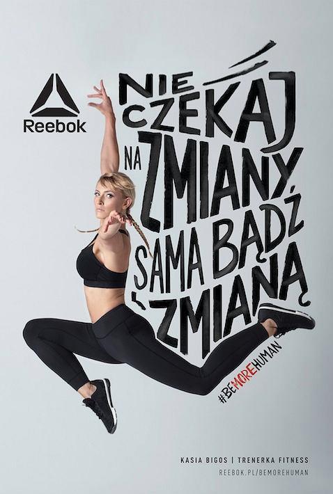 Reebok Be More Human. Katarzyna Bigos