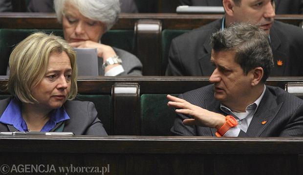 Wanda Nowicka i Janusz Palikot w Sejmie